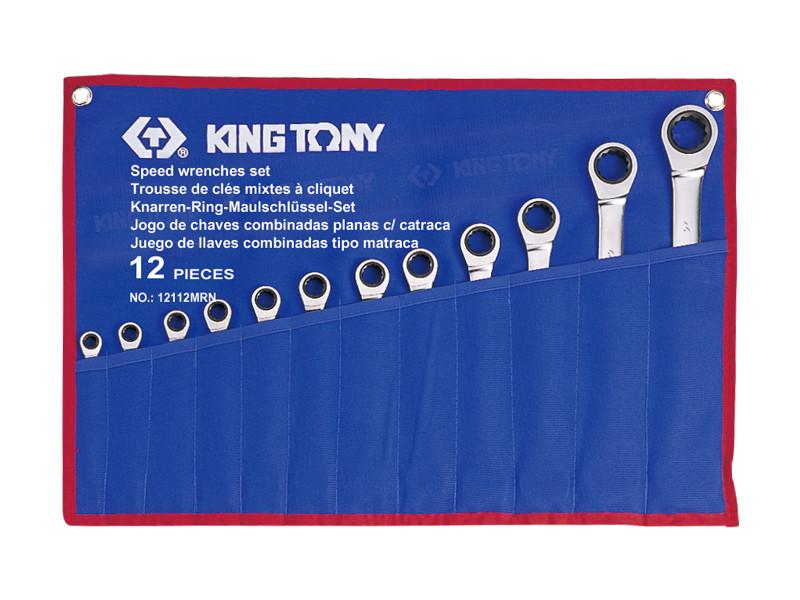 Набор ключей комби с трещоткой 12 ед. (8-24мм) KINGTONY