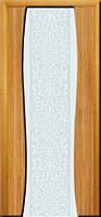 Двери межкомнатные шпонированные «ГЛАЗГО Грация» с пескоструйным рисунком