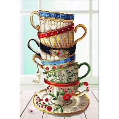Набор для рисования камнями «Набор кофейных чашек» (40 х 56 см) DIY DIY-170100