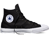 Оригинальные кеды Converse All Star Chuck Taylor II, Black/White/Navy, фото 1