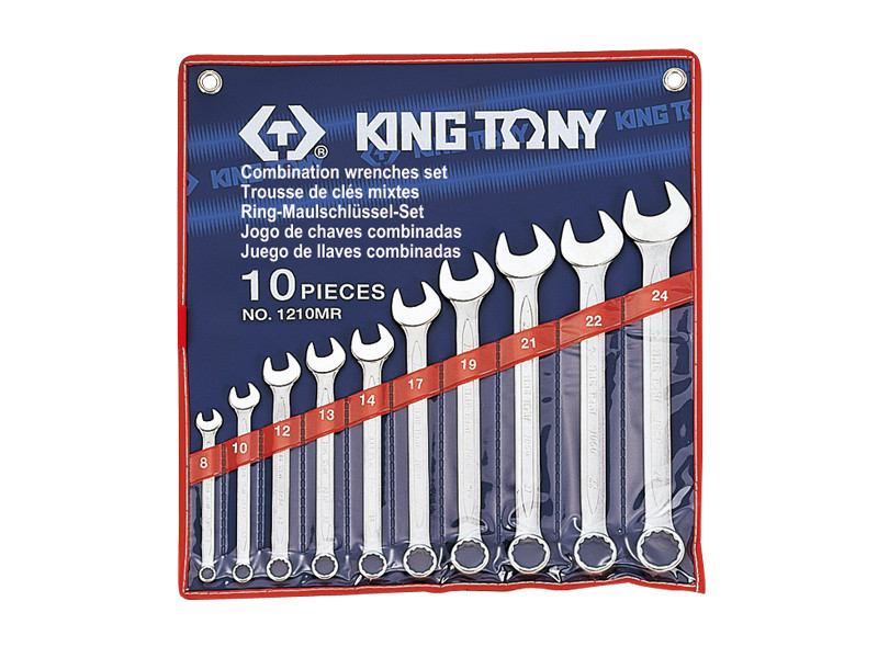 Набор ключей комби 10шт. (8-24мм) KINGTONY