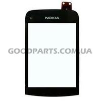 Сенсорный экран (тачскрин) для Nokia C2-02, C2-03, C2-06, C2-07, C2-08 черный high copy