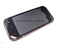 Сенсорный экран (тачскрин) с рамкой для Nokia N97 mini черный (Оригинал)