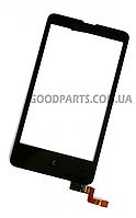 Сенсорный экран (тачскрин) для Nokia X черный (Оригинал)