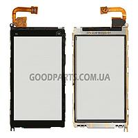 Сенсорный экран (тачскрин) для Nokia X6-00 черный (Оригинал)