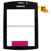 Сенсорный экран (тачскрин) для Nokia 303 Asha черный high copy