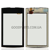 Сенсорный экран (тачскрин) для Nokia 305, 306 Asha черный (Оригинал)