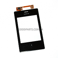 Сенсорный экран (тачскрин) для Nokia 503 Asha Dual Sim черный high copy