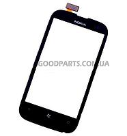 Сенсорный экран (тачскрин) для Nokia 510 Lumia черный (Оригинал)