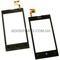 Сенсорный экран (тачскрин) для Nokia 520, 525 Lumia черный (Оригинал)