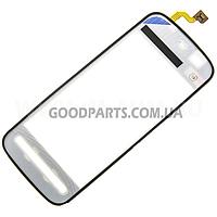 Сенсорный экран (тачскрин) для Nokia 5230, 5228, 5233, 5235 белый (Оригинал)