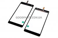 Сенсорный экран (тачскрин) для Nokia 535 Lumia черный high copy