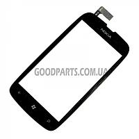 Сенсорный экран (тачскрин) для Nokia 610 Lumia черный high copy