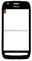 Сенсорный экран (тачскрин) с рамкой для Nokia 710 Lumia черный (Оригинал)