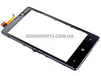 Сенсорный экран (тачскрин) с рамкой для Nokia 820 Lumia черный high copу