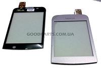 Сенсорный экран (тачскрин) для Nokia C2-02, C2-03, C2-06 пурпурный (Оригинал)