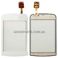 Сенсорный экран (тачскрин) для Nokia C2-02, C2-03, C2-06 белый (Оригинал)