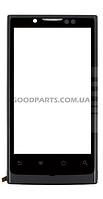 Сенсорный экран (тачскрин) с рамкой для Huawei U9000 Ideos X6 Ascend X черный (Оригинал)