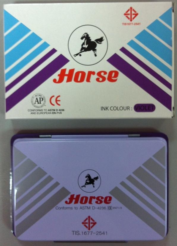 "Штемпельная подушка ""Horse"", фиолетовая №2"