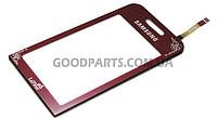 Сенсорный экран (тачскрин) для Samsung S5230 La Fleur красный high copy