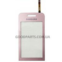 Сенсорный экран (тачскрин) для Samsung S5230 розовый high copy