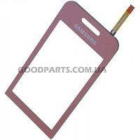 Сенсорный экран (тачскрин) для Samsung S5230 розовый (Оригинал)