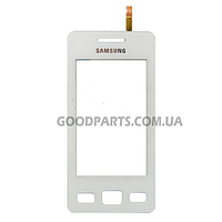 Сенсорный экран (тачскрин) для Samsung S5260 белый high copy