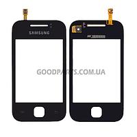 Сенсорный экран (тачскрин) для Samsung S5360 черный (Оригинал)