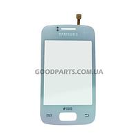 Сенсорный экран (тачскрин) для Samsung S6102 Galaxy Y Duos белый (Оригинал)