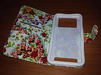 Чехол-книжка для HTC One M7 801е в цветочек