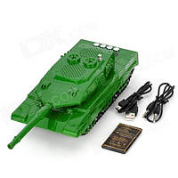 HY-T21 Hi-Fi Mini Music Tank LED Digital Speaker TF Card Media Player with Antenna - Camouflage Color