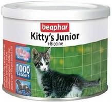 Beaphar Kittys junior витамины для котят с биотином 1000таб (12596)