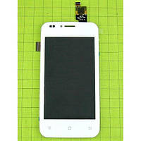 Дисплей (экран) Fly IQ442Q Quad Miracle 2 с сенсором (тачскрином) белый