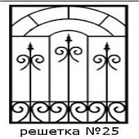 Кованая решетка 25