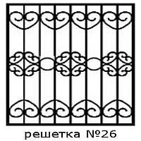 Кованая решетка 26