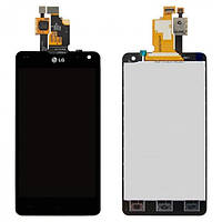 Дисплей (экран) LG E971, E973, E975, E976, E977, E987, F180K, F180L, F180S, LS970 Optimus G с сенсором (тачскрином) черный