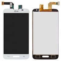 Дисплей (экран) LG D320 Optimus L70, D321 Optimus L70, MS323 Optimus L70 с сенсором (тачскрином) белый