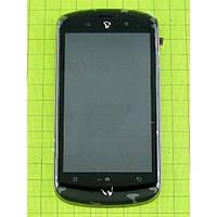 Дисплей (экран) Fly IQ280 Tech с сенсором (тачскрином) и рамкой синий