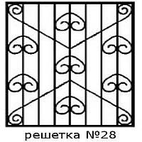 Кованая решетка 28