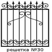 Кованая решетка 30