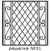 Кованая решетка 31