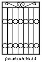 Кованая решетка 33