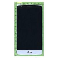 Дисплей (экран) LG D722 G3 mini с сенсором (тачскрином) и рамкой белый