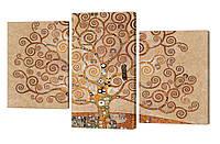 Модульная картина 81 Густав Климт - древо жизни