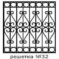 Кованая решетка 32