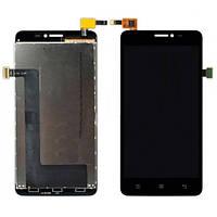 Дисплей (экран) Lenovo A828T с сенсором (тачскрином) черный