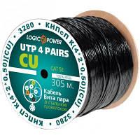 Кабель UTP 305м cat.5e КНПсП К(4*2*0,50)[СU] сталь. провол. 1*1,4мм LogicPower (3280)