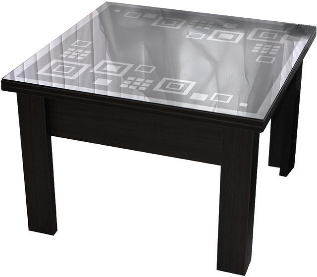 Дельта стол-трансформер Матролюкс 800х800 / 800х1600 мм с декоративной столешницей