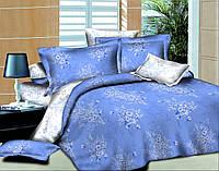 Двуспальный с евро простынью комплект постельного белья Букетик