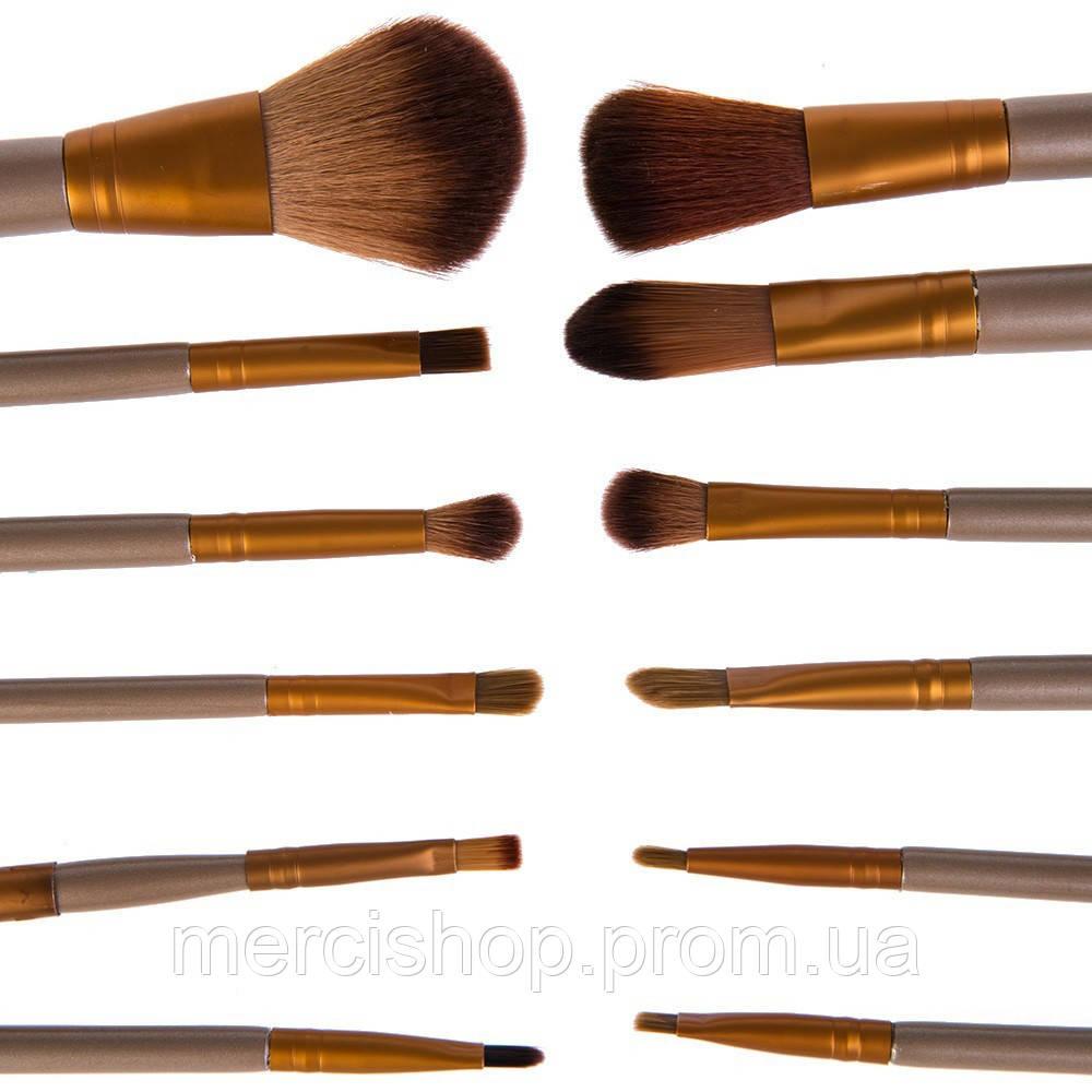 Профессиональный набор кистей для макияжа (12 штук)